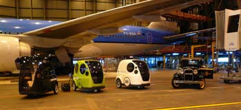 Voiture propre en demonstration �  l'aeroport d'amsterdam