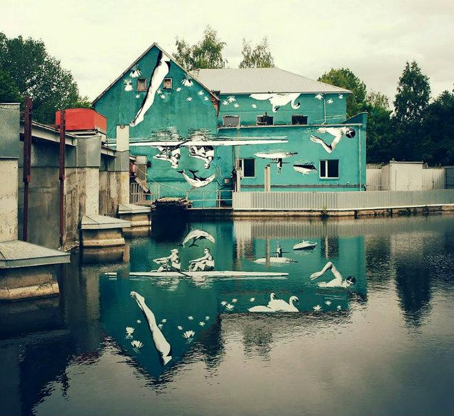 3 façades reflet peinture