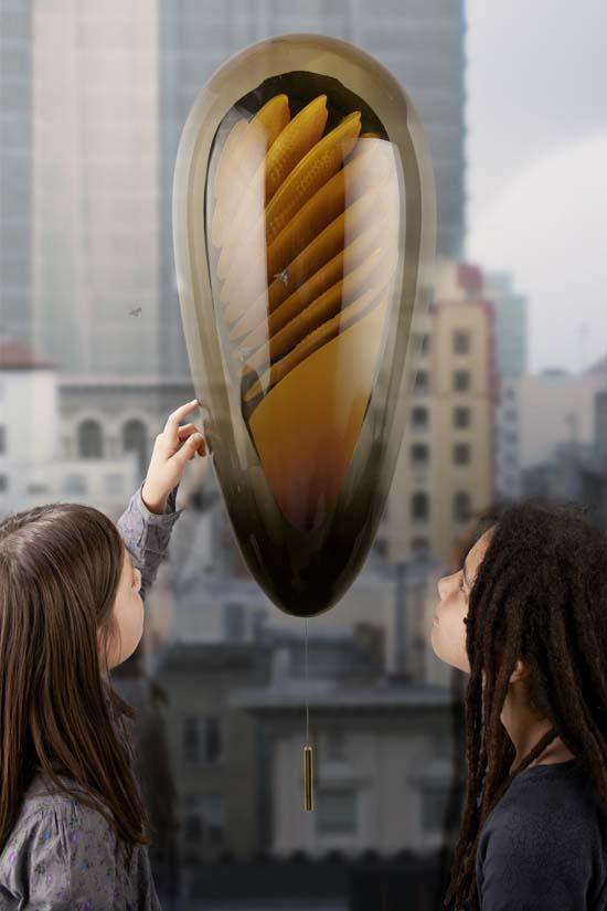 Concept de ruche urbaine pour produire son miel