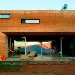 maison container bardage bois