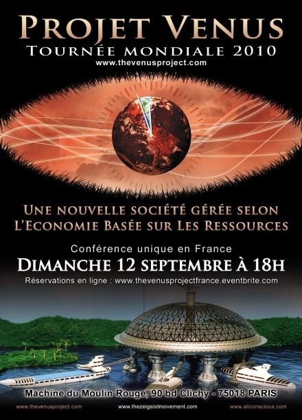 Projet Venus 2010 : Conférence unique en France