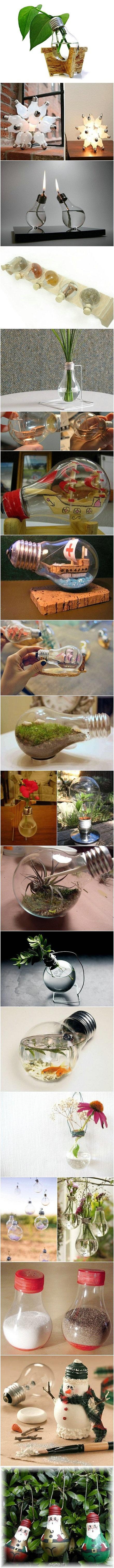 Idées pour recycler vos ampoules a incandescence