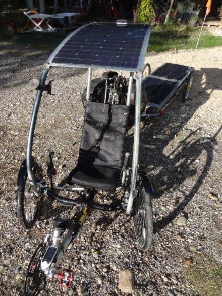 Proto-trike : Vélo electrique avec autonomie de 200 Km