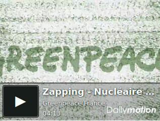 Fukushima : le Zapping de Greenpeace