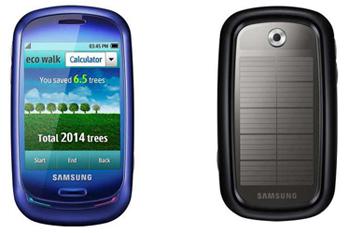 Mobile fonctionnant à l'énergie solaire