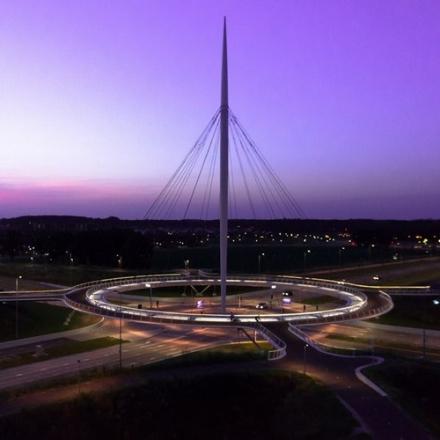 Un rond point pour cyclistes à Eindhoven ?