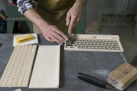 Made in France : Clavier d'ordinateur en bois